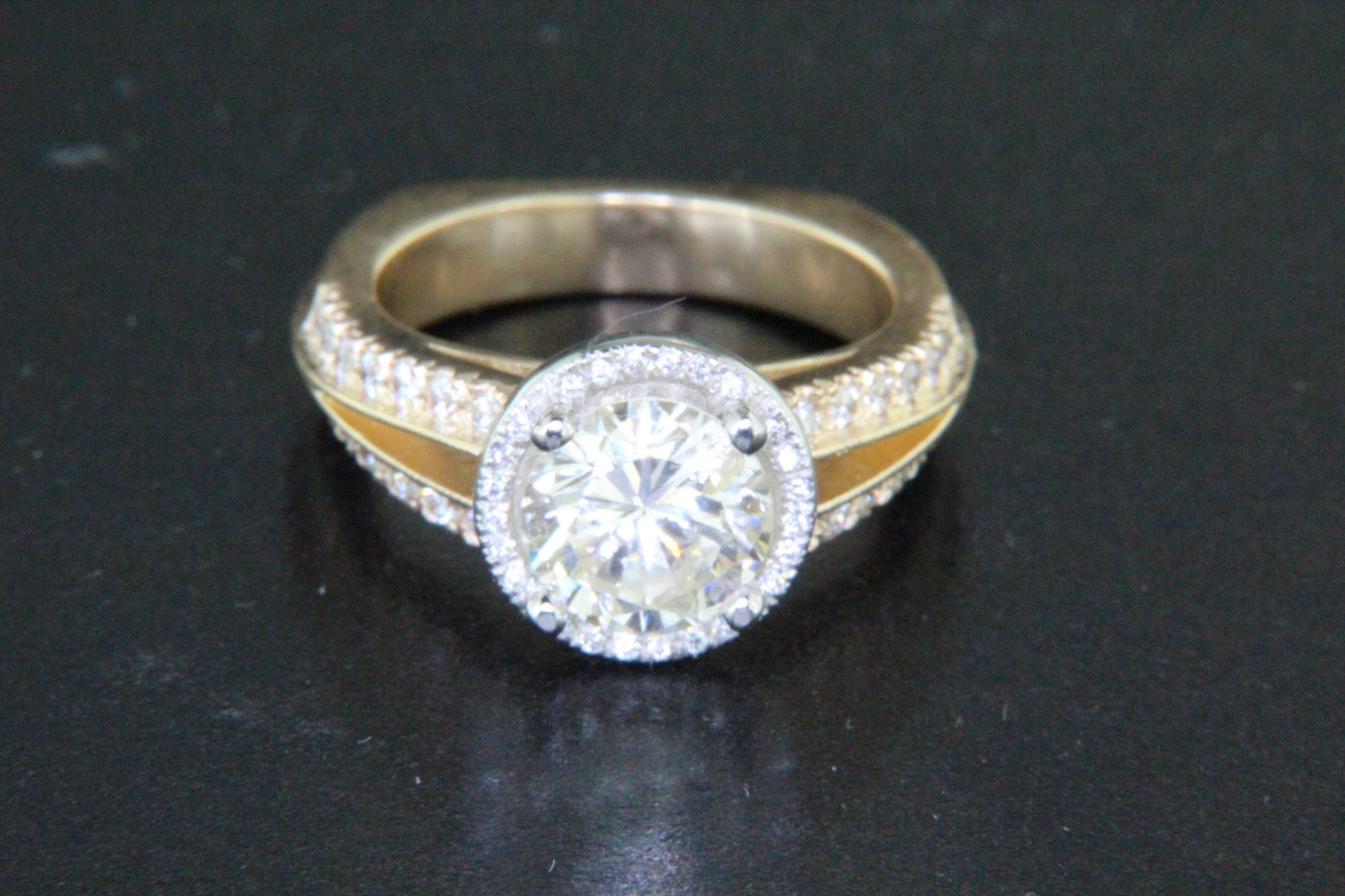 Platinum and 18kt Yellow Gold Ring Remake